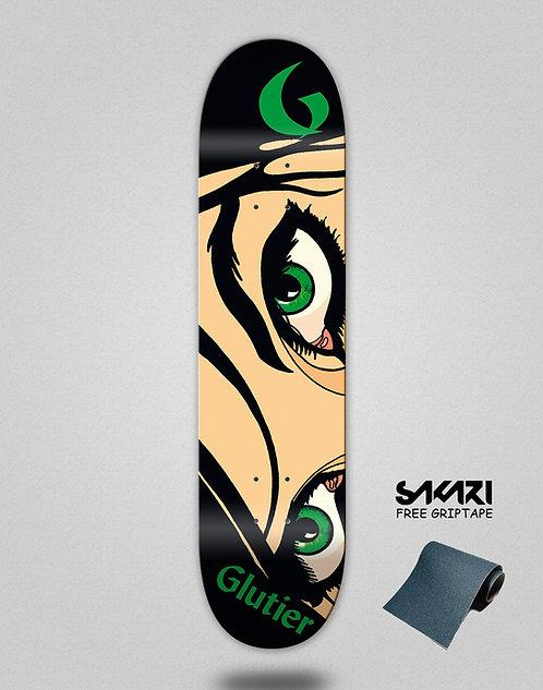 Glutier Drili eyes skate deck
