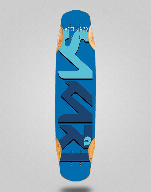 Sakari Logo blue blue longboard deck 38x8.45