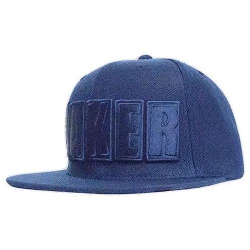 Baker Skateboard Snapback og logo blue