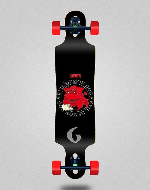 Glutier Demon dog longboard complete 40x9