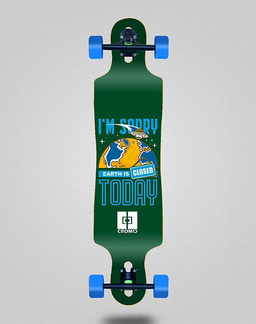 Cromic Covid Earth green longboard complete 40x9