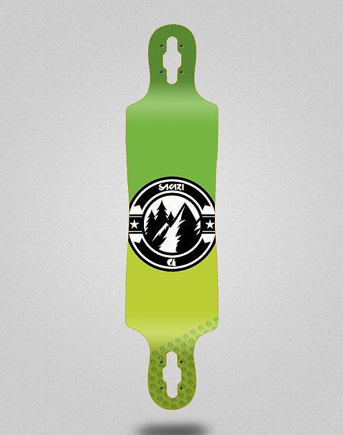 Sakari Downhill juice green longboard deck 40x9