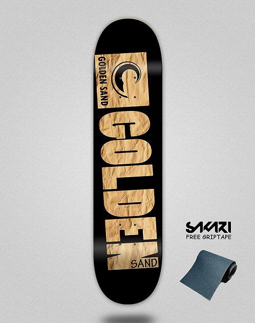 Golden Sand Degraded carton skate deck