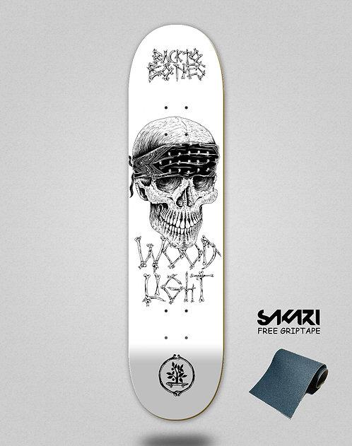 Wood light skate deck Back to bones Jordan white