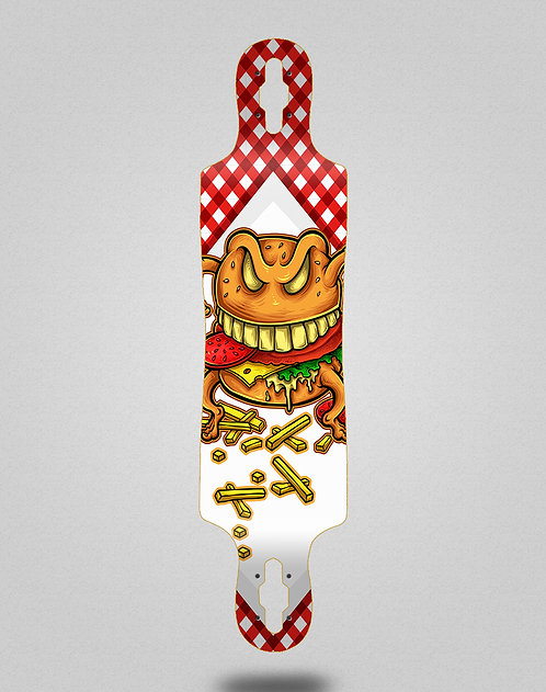 Cromic Burger crazy food longboard deck 40x9