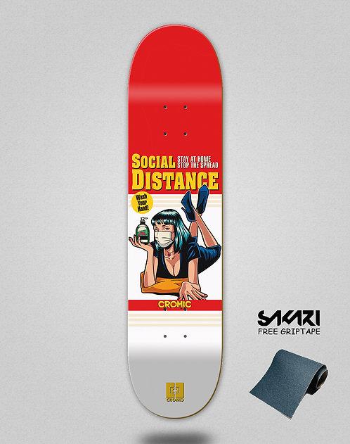 Cromic Covid Social distance skate deck