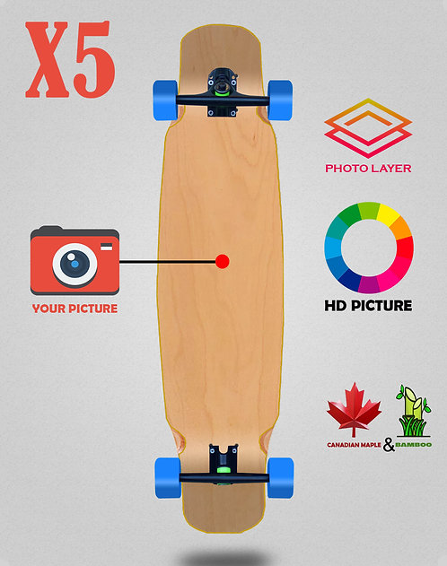 Personalizador longboard complete mix bamboo 46x9 X5 unidades