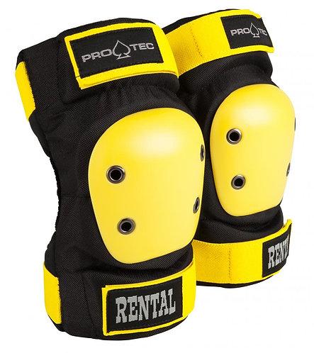Pro-tec elbow pads / coderas black yellow