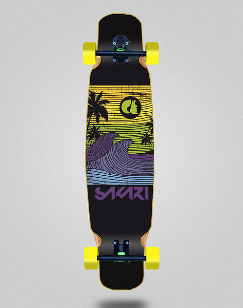 Sakari Cali dream yellow longboard dance complete 46x9