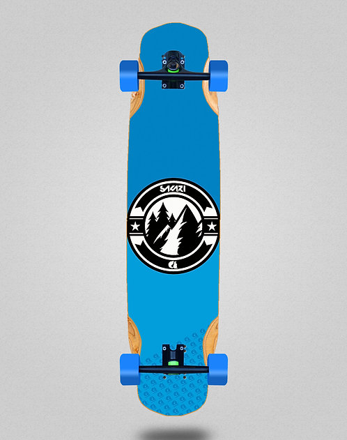 Sakari Downhill juice blue longboard complete 38x8.45
