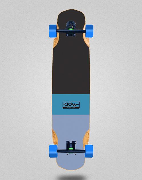 Aow Fastskate classic blue longboard complete 38x8.45