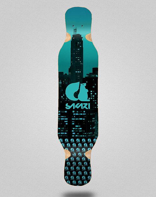 Sakari City blue longboard deck 46x10