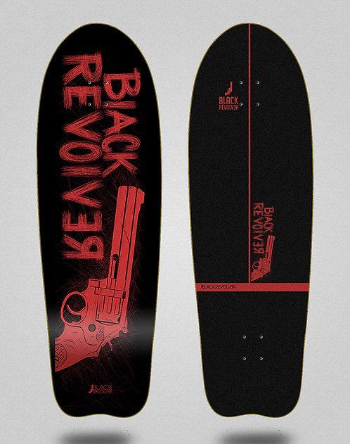 Black Revolver surfskate deck Big gun red black 31 fish