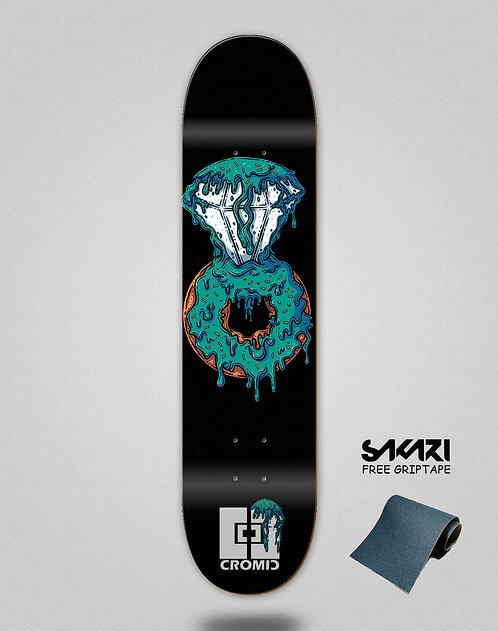 Cromic Donat luxury blue skate deck