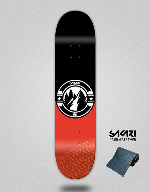Sakari Downhill juice black red skate deck