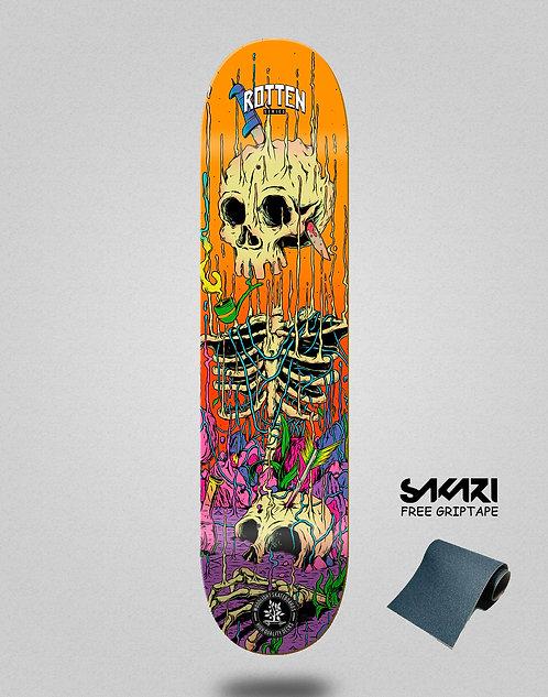 Wood light skate deck Rotten series orange