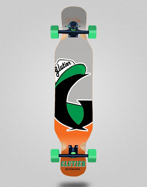 Glutier California orange longboard complete 46x10