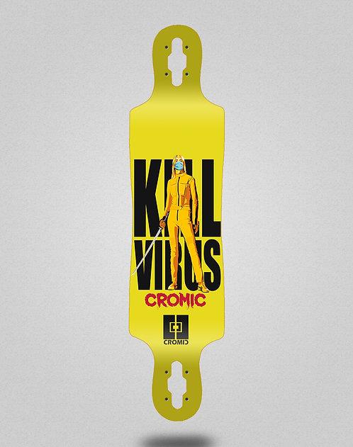Cromic Covid Kill virus longboard deck 40x9