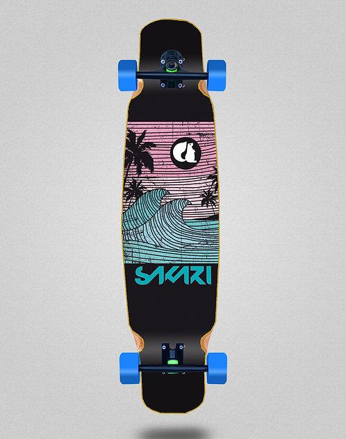 Sakari Cali dream blue longboard dance complete 46x9