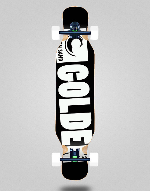 Golden Sand Degraded blk white longboard complete 46x10