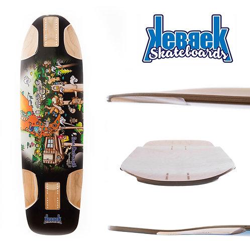 Kebbek skateboard Longboard skate. Ben Dubreuil Topmount Outdoor 38x9.75