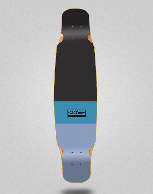 Aow Fastskate classic blue longboard deck bamboo dance 46x9