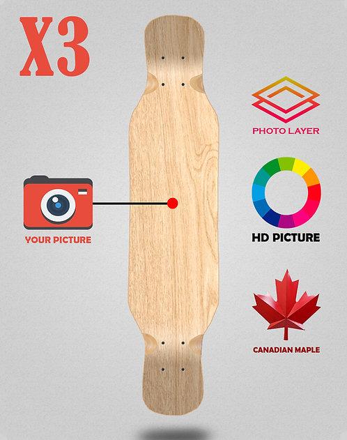 Personalizador longboard deck 46x9 X3 unidades