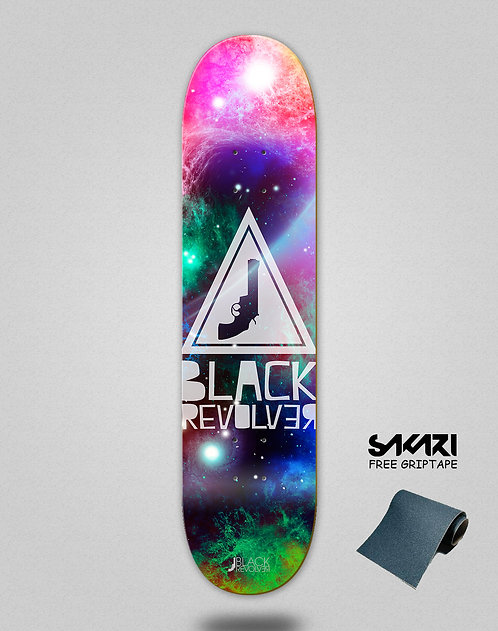 Black Revolver skate deck Space triangle