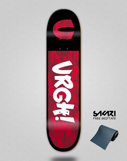 Urgh skate deck Camo red