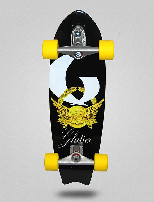 Glutier surfskate : Gold power 27¨ Maple wood