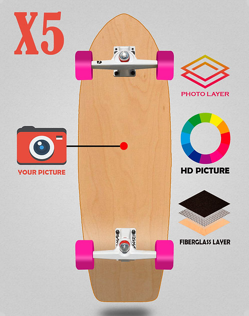 Personalizador surfskate complete SGI 29 X5 unidades