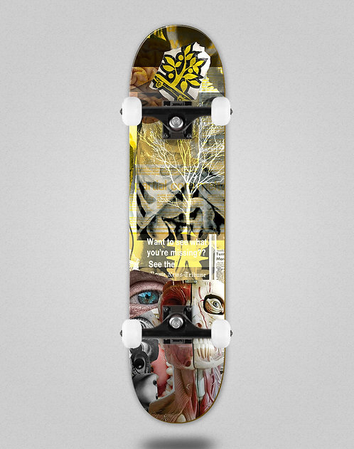 Wood light Collage body tree skate complete
