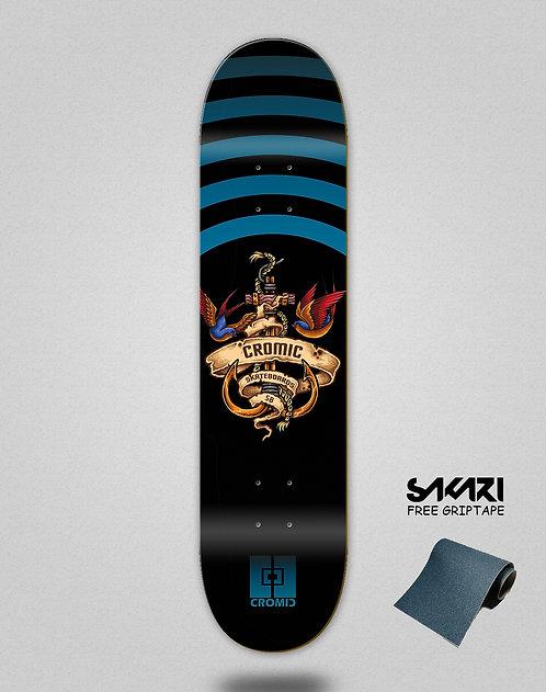 Cromic Seimam black blue skate deck