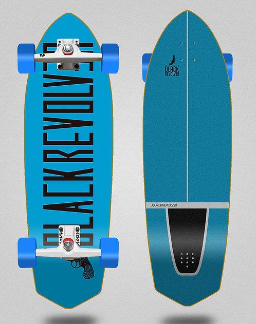 Black Revolver surfskate SGI trucks Color blue black 33