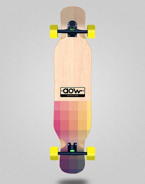 Aow Pixels longboard complete 46x10