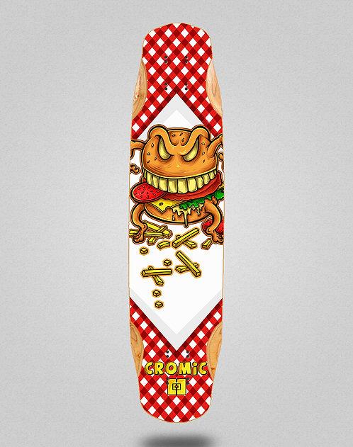 Cromic Burger crazy food longboard deck 38x8.45