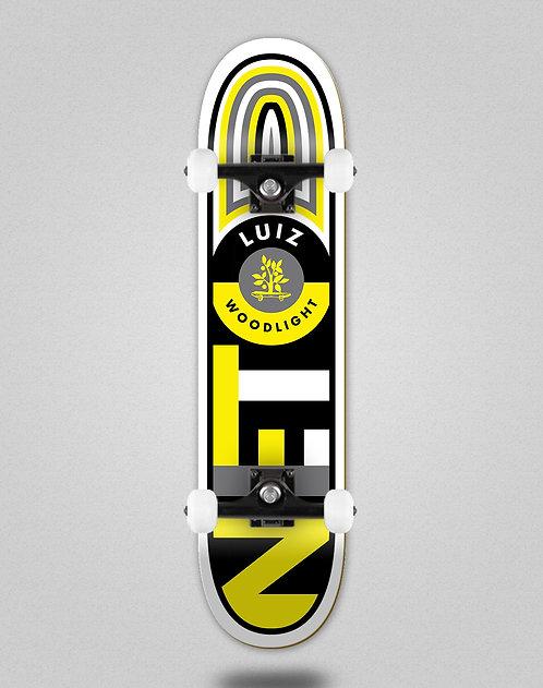 Wood light Luiz Neto flag black yellow skate complete