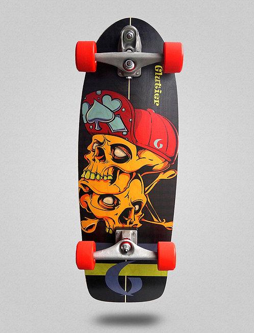 Glutier surfskate : Hip skulls 32