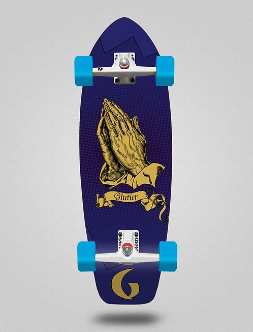 Glutier surfskate - Miracle blue 31