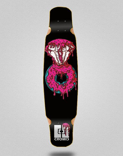 Cromic Donat pink longboard deck dance mix bamboo 46x9