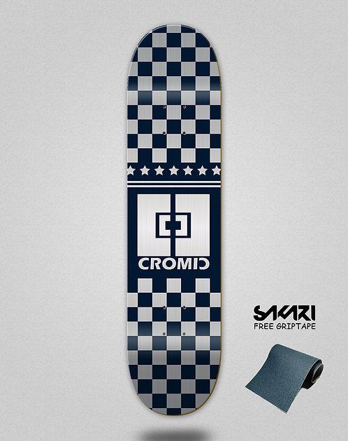 Cromic Squares navy grey skate deck