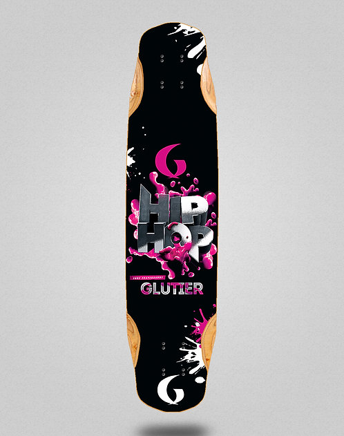 Glutier Hip silver longboard deck 38x8.45