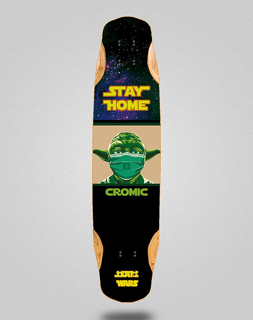 Cromic Covid Skate wars longboard deck 38x8.45