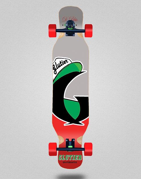 Glutier California red longboard complete 46x10