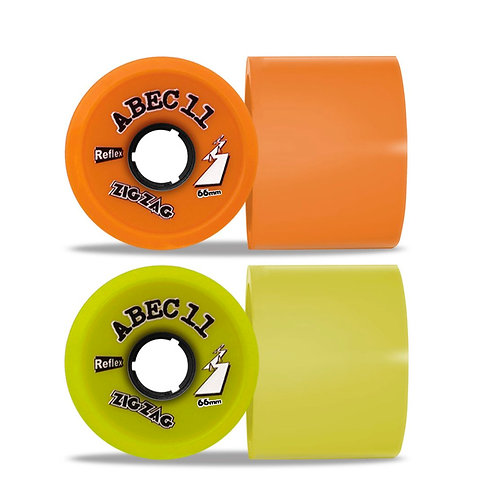 ABEC 11 Zig Zag 66mm Yellow 83a Orange 86a (set 4)