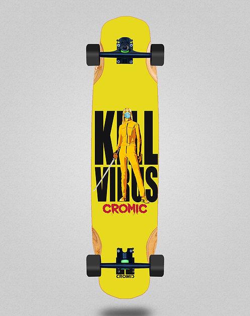Cromic Covid Kill virus longboard complete 38x8.45