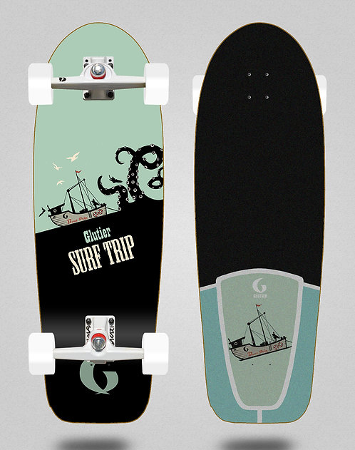 Glutier surfskate - Boat trip 30.5 SGI trucks