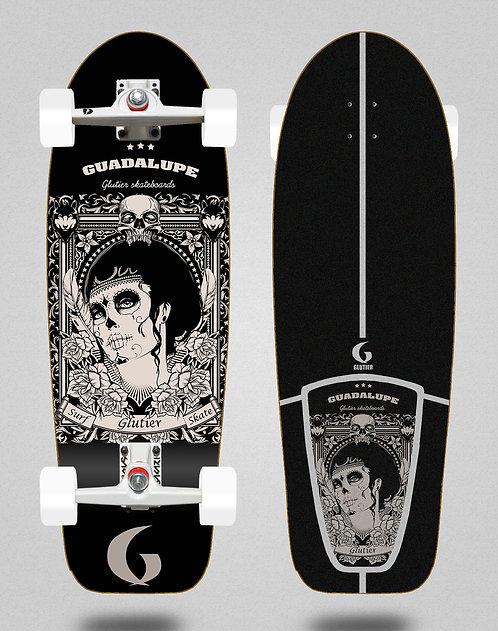 Glutier surfskate - Guadalupe black 30,5 SGI trucks