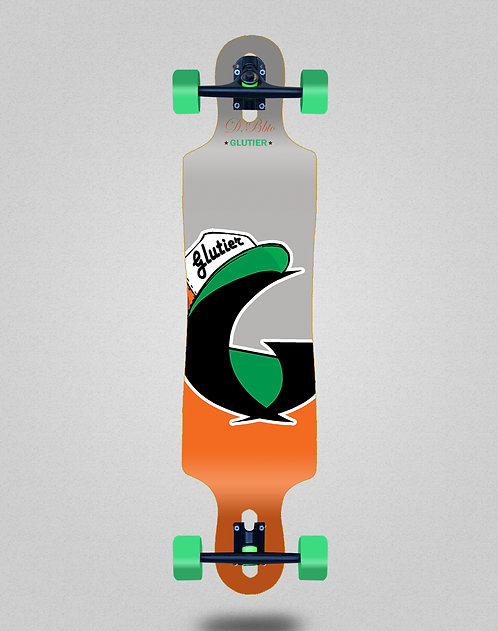 Glutier California orange longboard complete 40x9