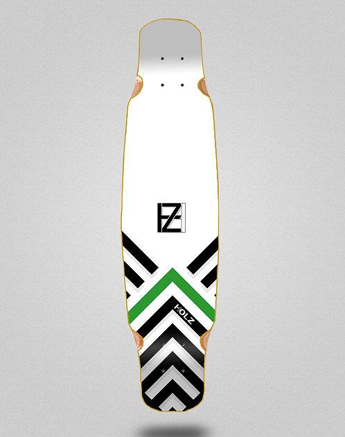 Holz Gram BW Akira white longboard deck bamboo dance 46x9